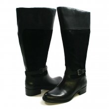 Franco Sarto Women's Corda Wide Calf Riding Boot Black Suede