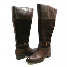 Franco Sarto Women's Corda Wide Calf Riding Boot Brown Suede
