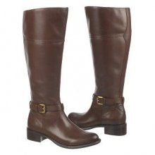 Franco Sarto Women's Corda Wide Calf Riding Boot Brown Leather