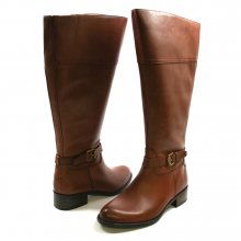 Franco Sarto Women's Corda Wide Calf Riding Boot Acorn Leather