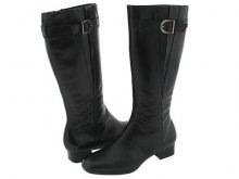 Trotters Audrey wide calf boot Black Leather