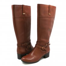 Women's Bandolino Carlotta Wide Calf Leather Boots Brown