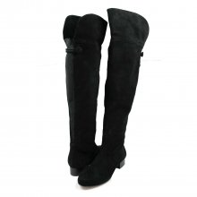 Ros Hommerson Simply Wide Shaft Over-The-Knee Boot Black Suede