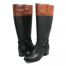 Women's Bandolino Carlotta Wide Calf Leather Boots Black/Brn