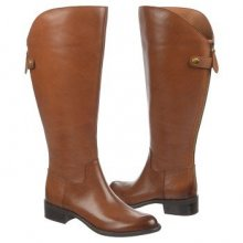 Franco Sarto Women's Cricket Wide Calf Riding Boot Brown Leather