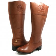 Franco Sarto Women's Chip Wide Calf Riding Boots Banana Bread