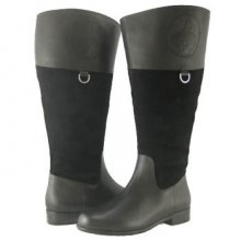 Ros Hommerson Chip boot Black Leather suede Wide calf