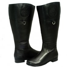 Ros Hommerson Chip Blk Leather-Black Softy Super Wide Calf