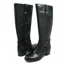 Women's Bandolino Carlotta Wdie Calf Leather Boots Black/Blk