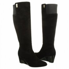 AK Anne Klein Women's Edenia Black Suede Knee High Boot
