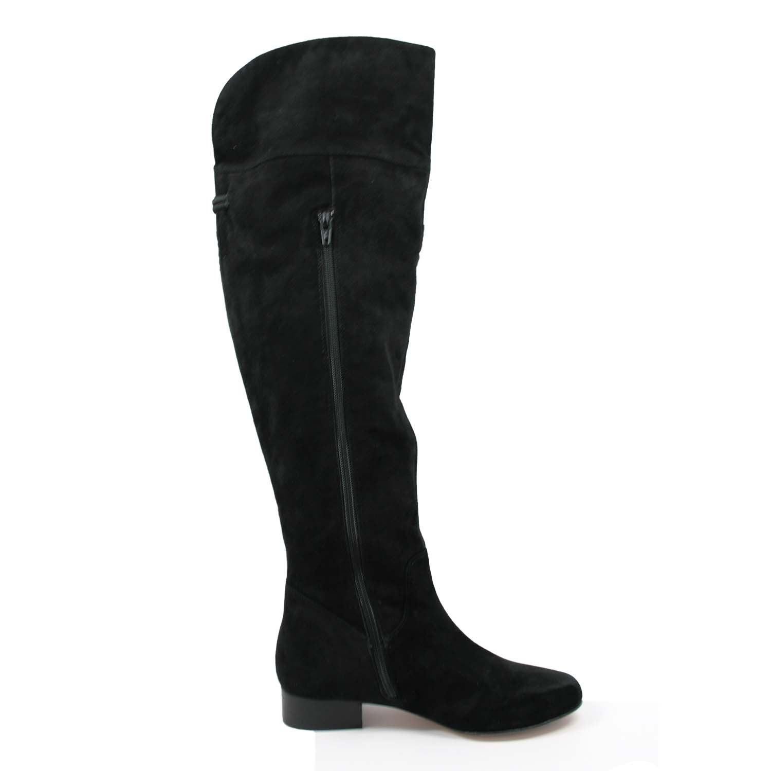 Ros Hommerson Simply Wide Shaft Over-The-Knee Boot Black Suede [H ...