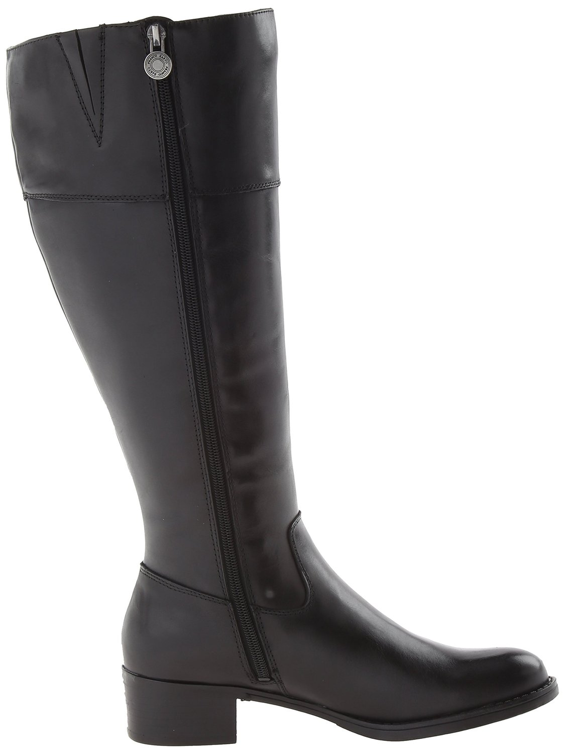 Franco Sarto Womens Black Boots Leather Canyon Wide Shaft