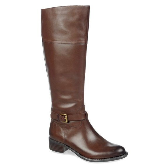 franco sarto s corda wide calf boot brown