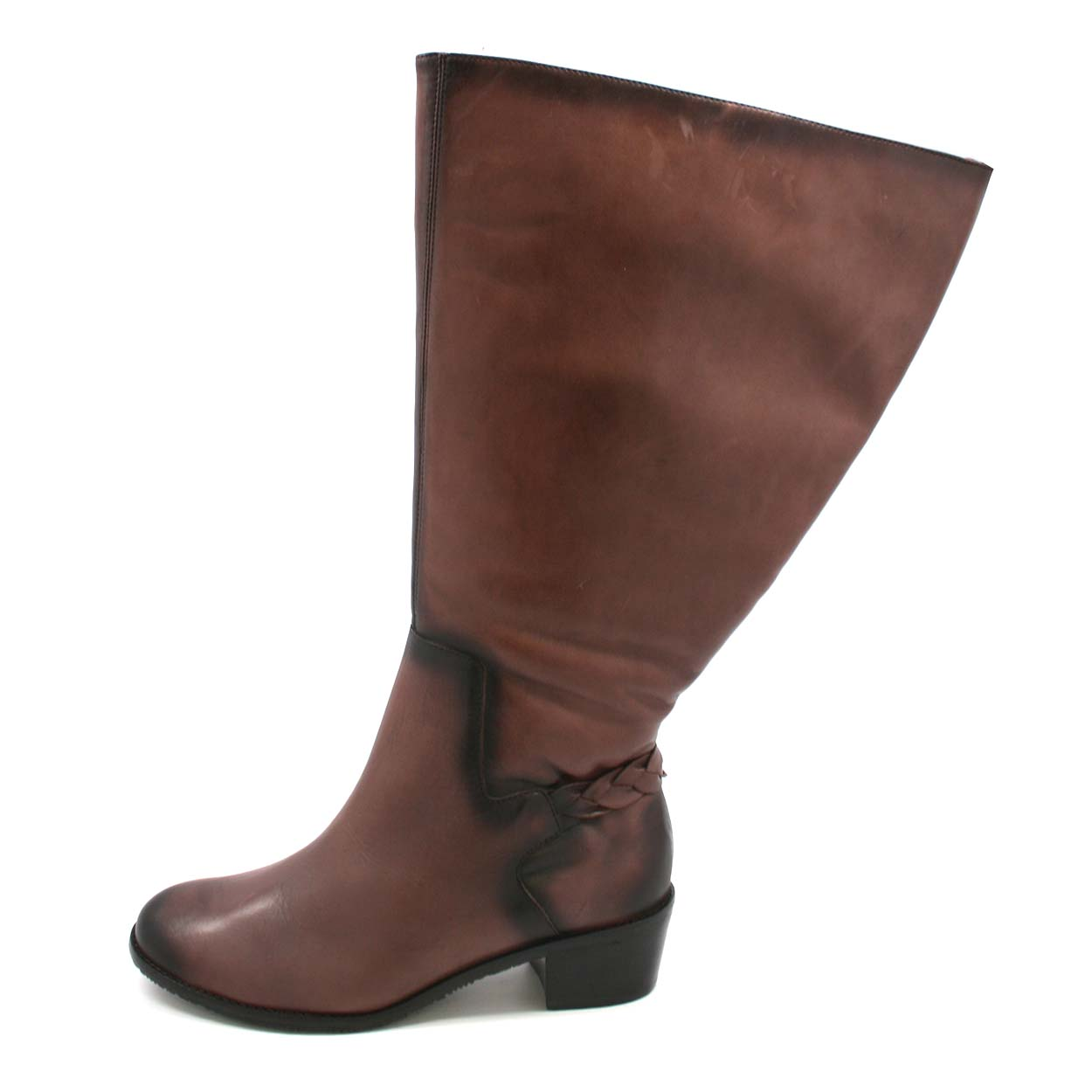Extra wide calf boots for women leather