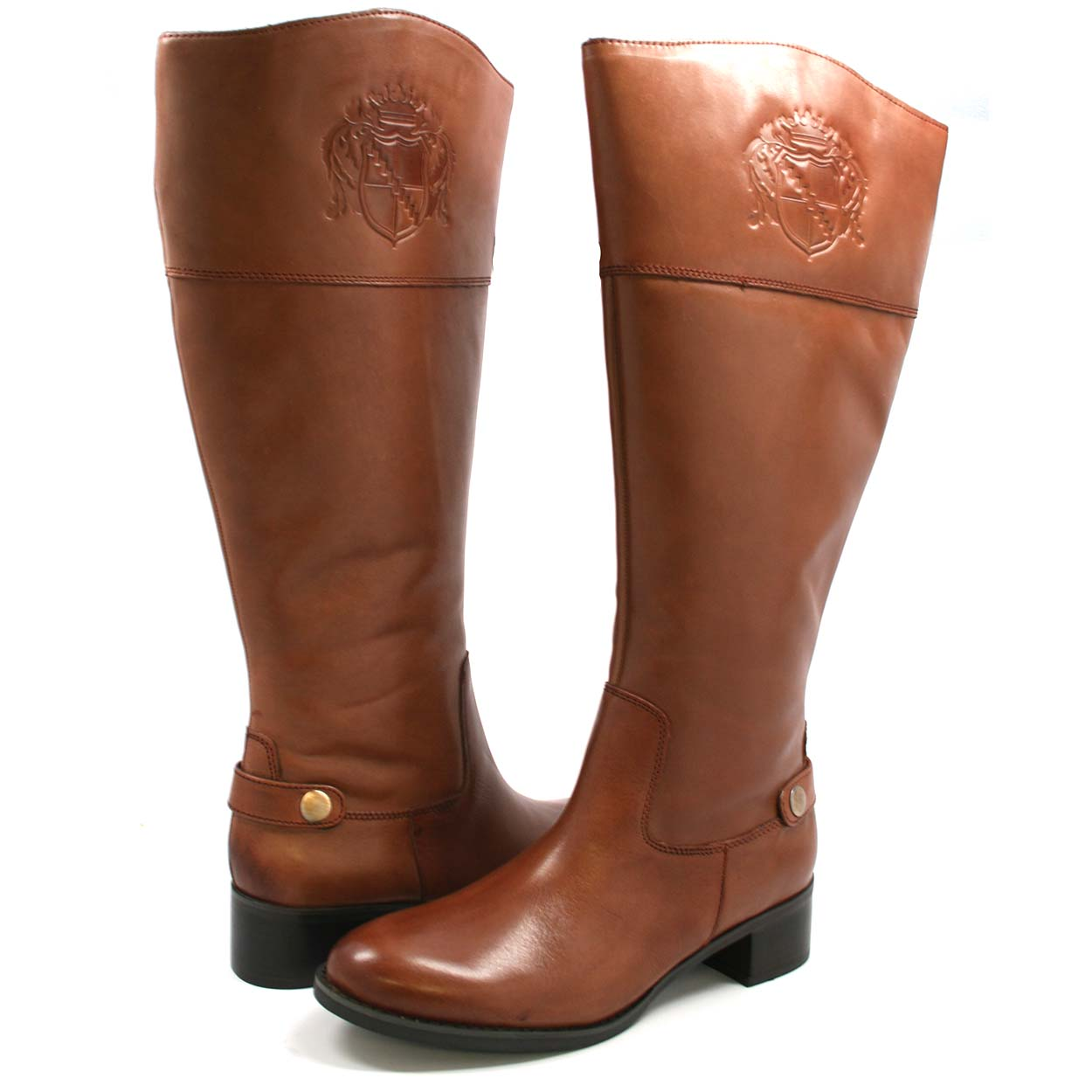 Franco Sarto Women's Chip Wide Calf Riding Boots Banana Bread ...