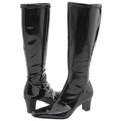 David Tate Denver Black Patent Stretch Wide Calf boot [0458 ...