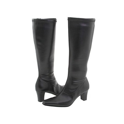 David Tate Denver Black Stretch Smooth Wide Calf boot