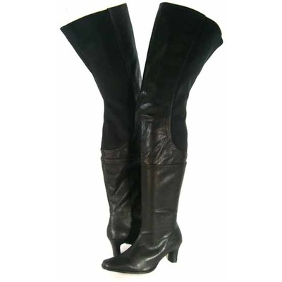 peearge lb7060 thigh high boots black leather