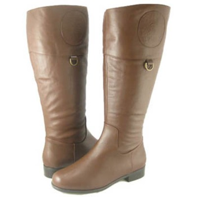 Ros Hommerson Chip boot British Tan Leather Super Wide calf