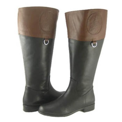 Ros Hommerson Chip boot Black/Banana Bread Le Super Wide calf