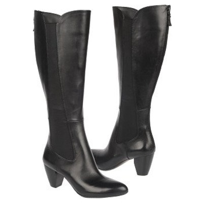 High Shaft Leather Boots - Black