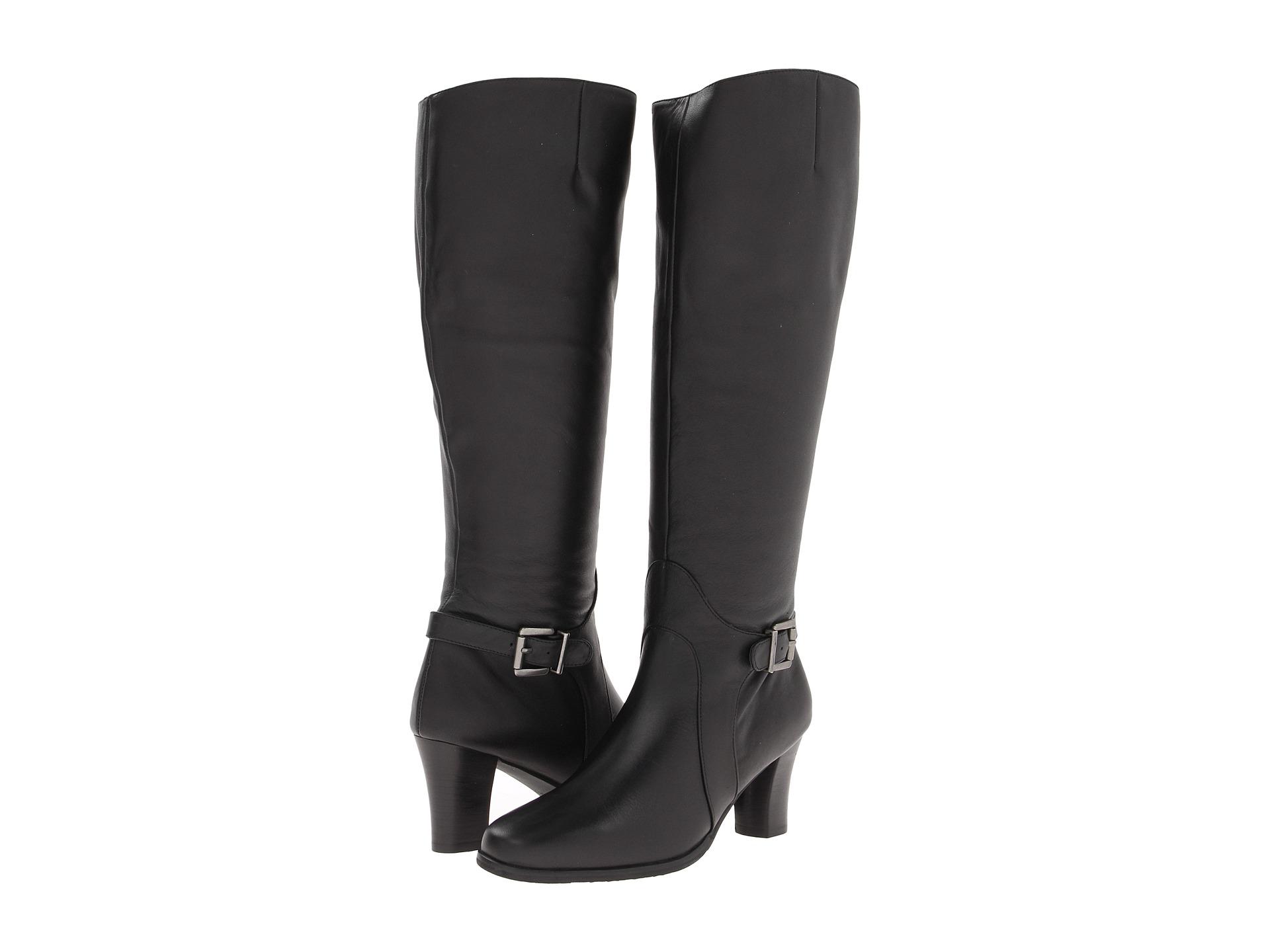 Ros Hommerson Tazmin Extra Wide Calf Knee High Boot Black Leathe