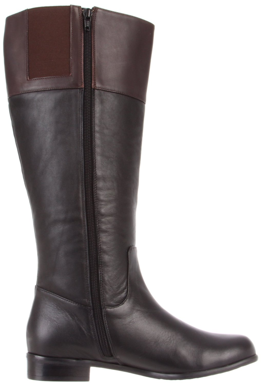 Ros Hommerson Chip boot Black/Brown Leather Wide calf [H-41898 ...