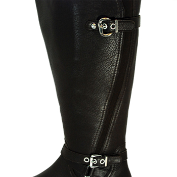 Ros Hommerson Trudy Brown Leather Boot Extra Wide calf - $239.99 ...