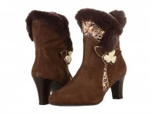 Ros Hommerson Women's Zumba Bootie Brown Leather/Suede