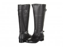 Ros Hommerson Trudy Black Leather Wide Calf Women's Boot
