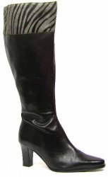 David Tate ladies wide calf Savannah Black Leather