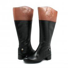 Franco Sarto Women's Chip Wide Calf Riding Boots Black/Bannana