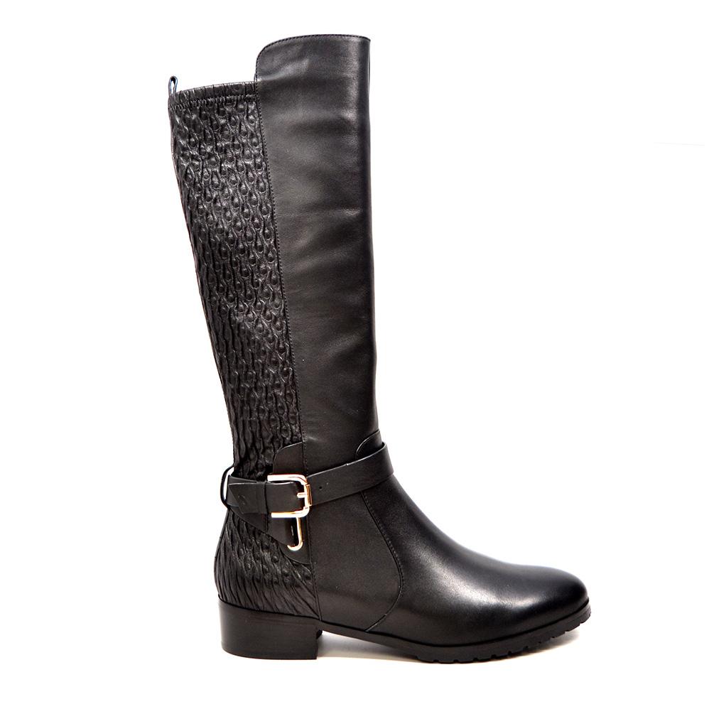 Bodycon dress knee high boots narrow calves