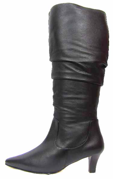 Ros Hommerson Trumpet Extra Wide Calf Boot Black Le Super