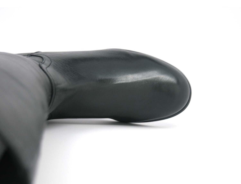 0c95db8f33e Rose Petals Trudy-2 Super Queen Wide Calf Black Leather [R ...