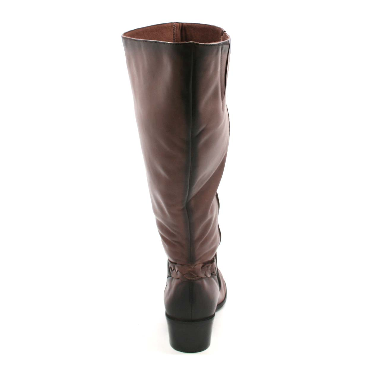 8dc1b432f0bd Rose Petals Curly Super Wide Calf Leather Riding Boot Tobacco ...