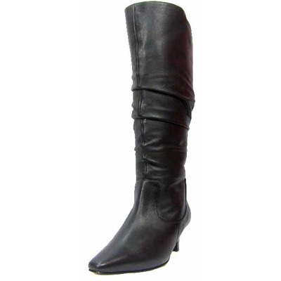 Ros Hommerson Trumpet Wide Calf Boot Black Leather