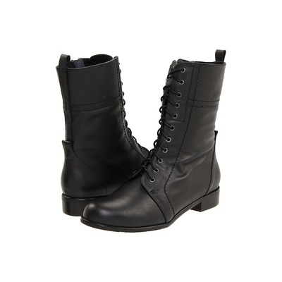 Ros Hommerson Military womens boots black leather