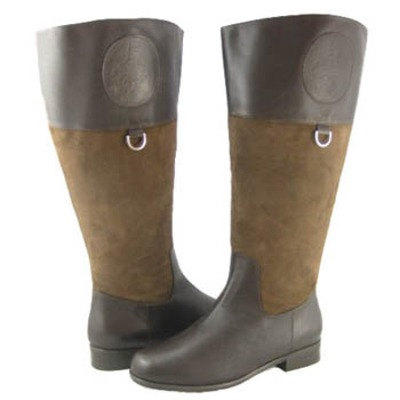 Ros Hommerson Chip boot Brown Leather suede Wide calf