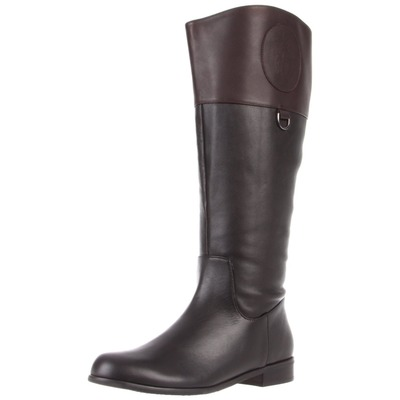 Ros Hommerson Chip boot Black/Brown Leather Wide calf