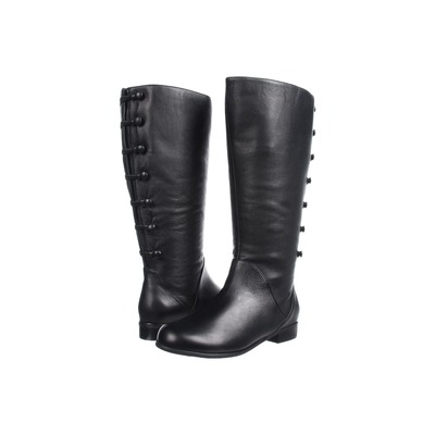 Ros Hommerson Trendy Extra Wide Calf Black Leather
