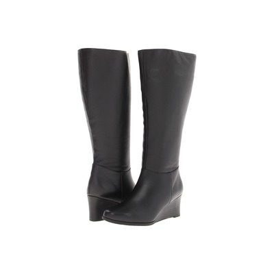 Ros Hommerson Tess Super Wide Calf Black Water Proof Wedge boot