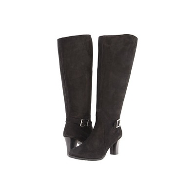 Ros Hommerson, Tazmin, black suede Extra Wide Calf