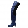 Peearge LB7060 Ladies Thigh High Boots Navy Leather