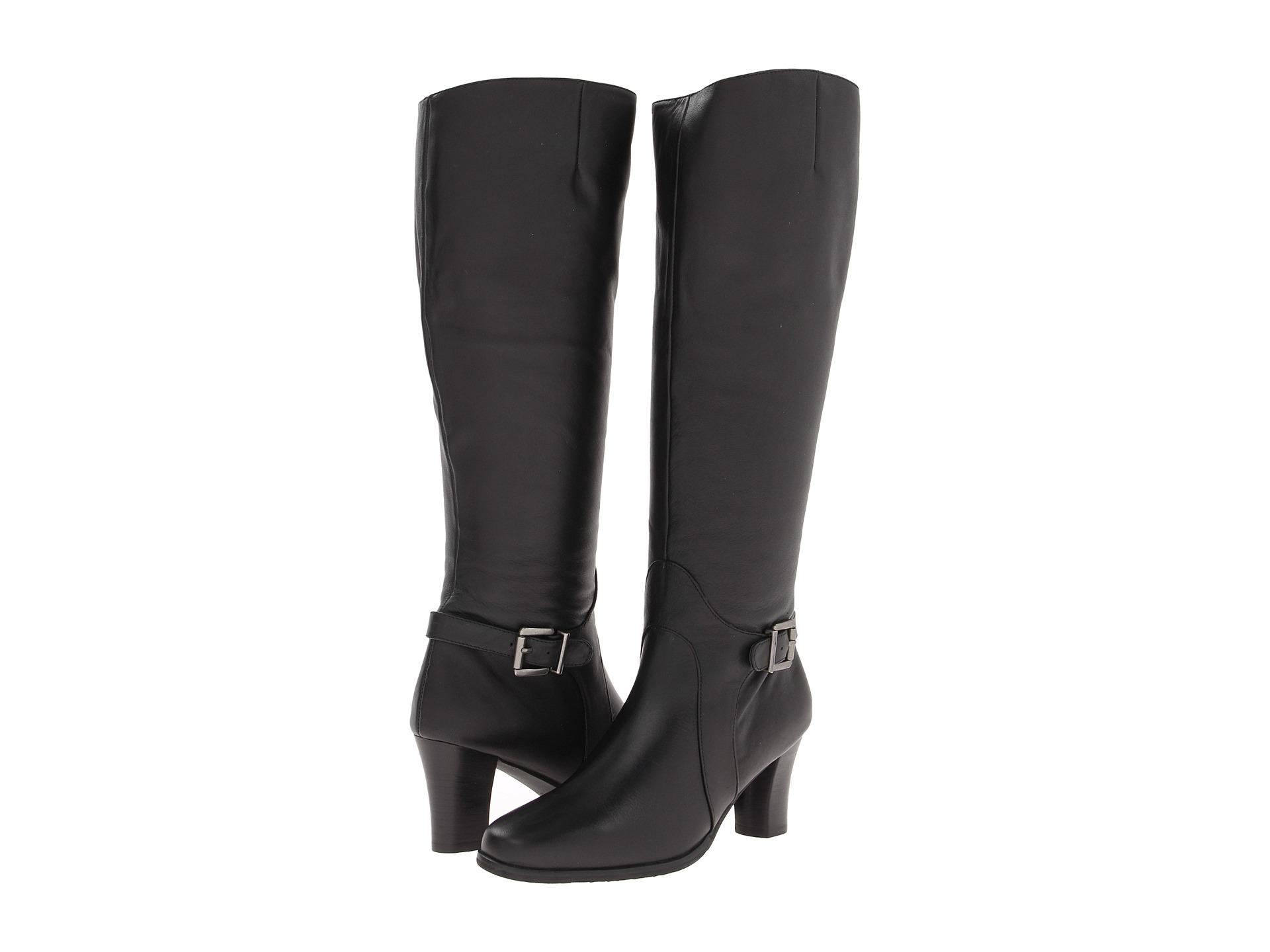 fbc0b4c26b6 Ros Hommerson Tazmin Extra Wide Calf Knee High Boot Black Leathe